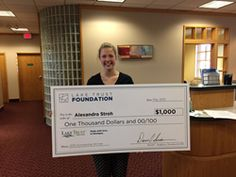 nice Lake Trust Credit Union Awards $1,000 Scholarship to Alexandra Stroh, Local Hudsonville HS Student