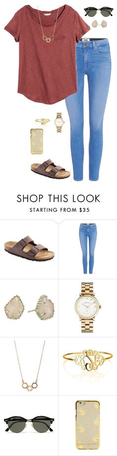 """""""Meet the teacher"""" by oliviacat1215 ❤ liked on Polyvore featuring Birkenstock, Paige Denim, H&M, Kendra Scott, Marc by Marc Jacobs, Argento Vivo, Ray-Ban, vintage and katesbtsb2k16"""