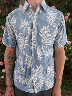 2f4cd9e2 Vintage Blue Hawaiian Men's Shirt. Surfer by sailorpinkvintage, $28.00  Hawaiian Men, Vintage Hawaiian