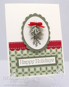 Lovely punch work. #cards #card_making #Christmas