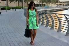 The Topshop Fluoro Dress
