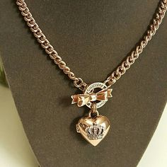 Juicy Couture Jewelry - Rose gold tone toggle heart necklace juicy couture