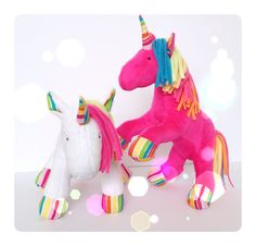 Unicorns by little Luckies  www.facebook.com/littleluckies2 #unicorn #plush #unicorntoy #funkyfriendsfactory