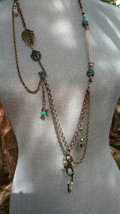 Viking Knit Lanyard / Lanyard / Beaded Lanyard / ID Holder / Steampunk Lanyard / Victorian Lanyard / Metal Badge Holder / Gift for Women
