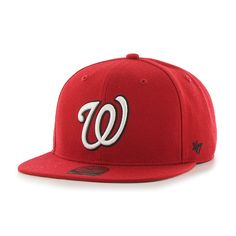 7b15e6ca1e3 Washington Nationals Sure Shot Red 47 Brand Adjustable Hat