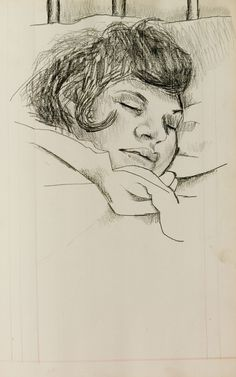 Lucian Freud: Girl sleeping, date unknown /  Estate of Lucian Freud/National Portrait Gallery