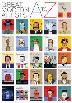 Modrn-Artists-Alphabet