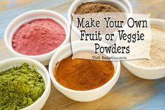 Homemade Fruit Powders
