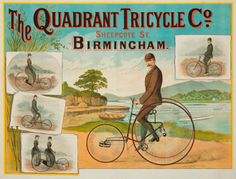 1887 THE QUADRANT TRICYCLE A BIRMINGHAM