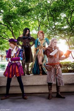 Cosplays: The Witcher Cosplayers: Pending Name - Dandelion Cosplay Kat - Yennefer of Vengerberg Critterbug Cosplay - Triss Independent Variable Cosplay - Avallac'h