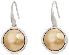 The Sak Metal Inlay Circle Drop Earrings Earring