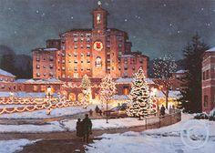 Christmas at The Broadmoor Hotel located in Colorado Springs, Colorado.
