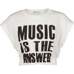 Glamorous Music Crop T-Shirt (€20) found on Polyvore