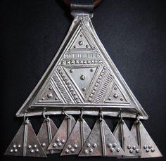 tuareg leather | Tuareg Triangle Amulet with Leather Cords by TuaregJewelry on Etsy, $ ...