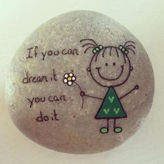 "Painting rocks or easy painted rock ideas with positive messages is something I love to do! Hand painted river rocks in various themes, colors, patterns and positive sayings. Perfect for gifts or to ""artfully abandon"" to brighten someone's day. Pebble Painting, Pebble Art, Stone Painting, Pour Painting, Stone Crafts, Rock Crafts, Arts And Crafts, Caillou Roche, Art Rupestre"