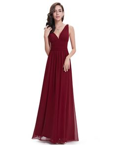 New Listing Custom Fit Deep V Neckline Best Prices Simple Coral Red Bridesmaid Dresses Long 2016 High Quality Vestido Longo