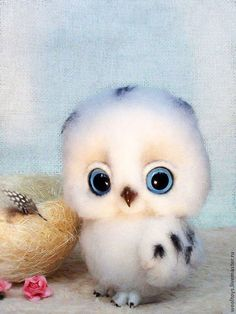 """Find More Diamond Painting Cross Stitch Information about Full square drill DIY Diamond Painting """"Little Owl"""" Diamond Cross Stitch Mosaic Embroidery Decorative Sticker Quality Diamond Painting Cross Stitch from Store on Cute Little Animals, Cute Funny Animals, Cute Animal Drawings, Cute Drawings, Felt Animals, Animals And Pets, Tier Fotos, Baby Owls, Cute Owl"""
