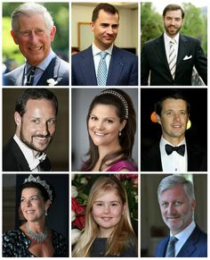 R4R Photo Spotlight: The Heirs  Prince Charles of Wales (U.K.)  Felipe, Prince of Asturias (Spain)  Prince Guillaume, Hereditary Grand Duke of Luxembourg   Crown Prince Haakon of Norway   Crown Princess Victoria of Sweden   Crown Prince Frederik of Denmark   Princess Caroline of Hanover, Hereditary Princess of Monaco   Princess Catharina-Amalia, Princess of Orange (the Netherlands)* *as of April 30, 2013  Prince Philippe, Duke of Brabant (Belgium)