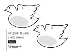 Medallas por la Paz. Dibujalia.