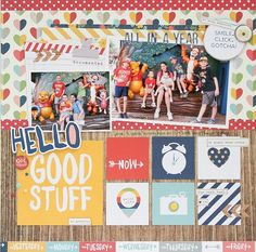 Hello Good Stuff - Scrapbook.com - Made with the soon to be available Life Documented Collection by Simple Stories.