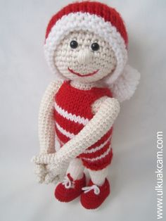 Amigurumi Weihnachts Puppe Haekelanleitung