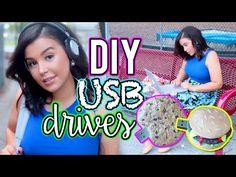 DIY USB Drives! Easy DIY Back To School Supplies + Decor!
