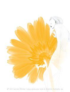 fashion illustration flower dream5