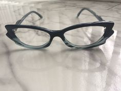 5707bbeaaca FROST (made In Germany) glasses frame BLUE GREY   BLACK 48-16-140mm   FrostGermanyshippedinusedPradacase