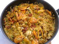 Guloso qb: Arroz à valenciana (ou um arroz terra e mar)