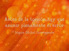 Antes de la torsión hay que asumir plenamente el error. Lógica Global Convergente.