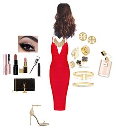 """""""Untitled #131"""" by jennifereec ❤ liked on Polyvore featuring Yves Saint Laurent, Van Cleef & Arpels, Alexis Bittar, John Hardy, Lime Crime, Beauty Secrets, Jeweliq, Smashbox, Too Faced Cosmetics and Tory Burch"""