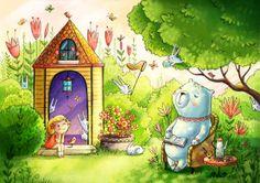 summer and spring by Irina Smirnova, via Behance
