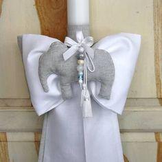 Λαμπάδες βάπτισης - Λαμπάδα βάπτισης ελεφαντάκι - Προϊόντα - Χειροποίητα Βαπτιστικά είδη - Μαρία Ζεάκη