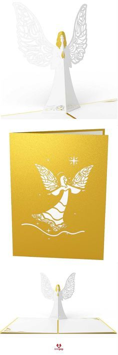 Say Merry Christmas with a pop up Angel card. Send something different this year as your Christmas Cards.