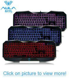 LED Illuminated Ergonomic USB Multimedia Backlight Backlit Gaming Keyboard (3 Colors)