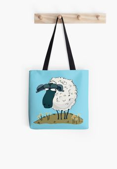 An Indifferent Sheep tote bag by YoPedro