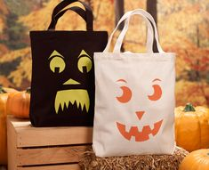 Whether its trick-or-treating with your little one or enjoying a seasonal tote yourself, this jack-o-lantern tote is not only fun and easy to make but will also help you celebrate the season!