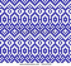 Ornamental Pattern For Knitting And Embroidery Heart Stock Photos, Images, & Pictures | Shutterstock