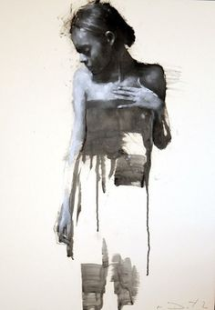 Mark Demsteader -  Cipriana standing 2, Oil on Board
