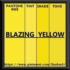 PANTONE SEASONAL COLOR SWATCH BLAZING YELLOW