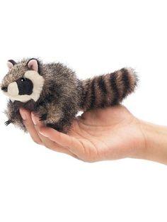 Folkmanis Mini Raccoon Finger Puppet ❤ Folkmanis Puppets