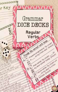 Regular Verbs: Past Tense Verbs, Future Tense Verbs, Present Progressive Verbs Grammar Activities, Vocabulary Games, Language Activities, Receptive Language, Speech And Language, Language Arts, Teaching Verbs, Teaching Resources, Speech Therapy Activities