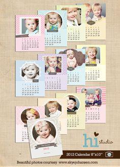Calendar templates 2012  8x10 PSD for photographers by histudio, $15.00