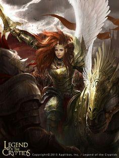 Legends of the Cryptids fantasy Angel Warrior Girl Fantasy Girl, Chica Fantasy, Fantasy Warrior, Fantasy Women, Dark Fantasy Art, Fantasy Artwork, Character Inspiration, Character Art, Angel Warrior