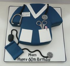 Nurse Uniform cake - by funcakes @ CakesDecor.com - cake decorating website