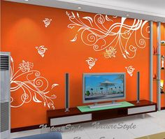 Vinyl wall decals flower nursery wall decal baby от NatureStyle
