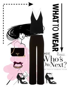 """Black and fur pom pom sandals MK"" by gabriela2105 on Polyvore featuring moda, Prada, Dion Lee, Armani Collezioni, Michael Kors y Lanvin"