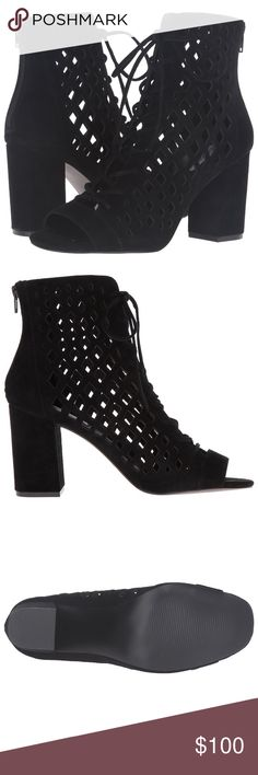 """COMING SOON Steve Madden """"Denay"""" Ankle Bootie New in box, gorgeous Steve Madden booties. Suede with diamond patterned cutouts and a block heel. Steve Madden Shoes Ankle Boots & Booties"""