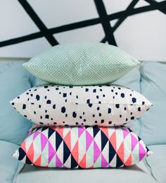 brilliant pillows by Caitlin Wilson