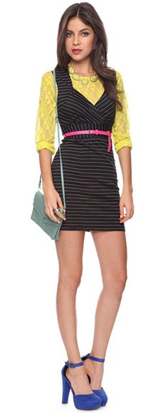 Layer lace shirt/lace cardi under dress/top